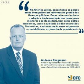 CFC entrevista Andreas Bergmann, ex-chair do International Public Sector Accounting Standards Board (Ipsasb)