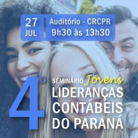 4º Seminário Jovens Lideranças Contábeis do Paraná acontece no dia 27 de julho