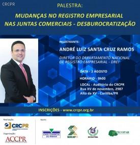 CRCPR realiza palestra sobre Mudanças no Registro Empresarial nas Juntas Comerciais