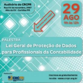 Palestra sobre Lei Geral de Proteção de Dados pontuará 3 pontos para o PEPC do CFC