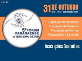 5º Fórum Paranaense do Terceiro Setor valerá 6 pontos no EPC do CFC