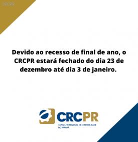 Neste final de ano, o CRCPR terá horário especial de atendimento