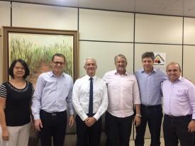 Conselheiros do CRCPR reúnem-se com novo delegado da Receita Estadual em Maringá