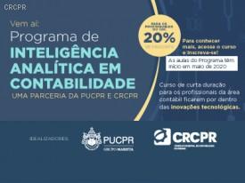 BOA NOTÍCIA! Inteligência Analítica em Contabilidade, curso da PUCPR, em parceria com o CRCPR tem turma confirmada e nova data de início