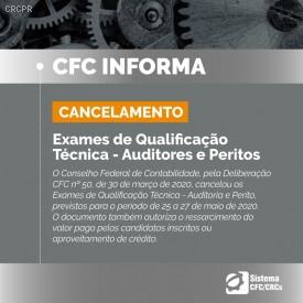 Cancelados os Exames de Qualificação Técnica para Auditores e Peritos