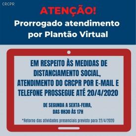 CRCPR prorroga por 15 dias suspensão de atendimento e eventos presenciais em sua sede e escritórios regionais