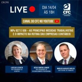 CFC realiza live sobre MPs 927 e 936 amanhã (14/04)