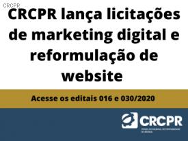 CRCPR lança licitações para marketing digital e reformulação de site institucional