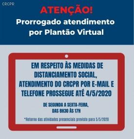 Plantão Virtual do CRCPR prossegue em atendimento até 4 de maio