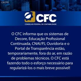 Portal do CFC, que sofreu um ataque cibernético na última semana, está temporariamente fora do ar