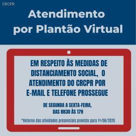 Plantão Virtual do CRCPR prossegue em atendimento
