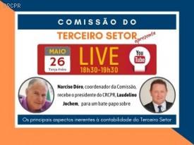 Live: Canal do CRCPR no YouTube apresenta