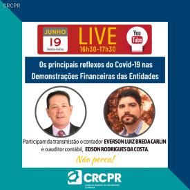 LIVE: Canal do CRCPR no YouTube apresenta nova Live com o tema