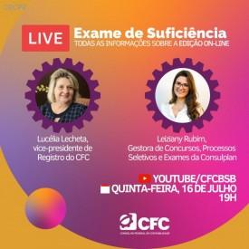 CFC realiza live no YouTube sobre a prova online do Exame de Suficiência