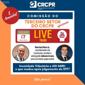 Comissão do Terceiro Setor do CRCPR promove LIVE sobre o tema