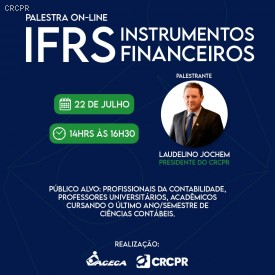 IFRS Instrumentos Financeiros foi tema de palestra online para profissionais de Arapongas e região