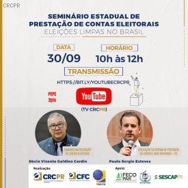 CRCPR apresenta as principais novidades sobre a prestação de contas eleitorais em seminário virtual