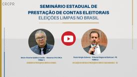 Com 1700 visualizações no YouTube, seminário aborda prestação de contas das eleições 2020