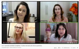 """Comissão da Mulher Contabilista realiza live  """"O Câncer de Mama Não Está de Quarentena"""""""