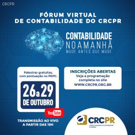 Presidente do CFC, Zulmir Breda, fala sobre tendências e oportunidades da profissão contábil na abertura do Fórum Virtual de Contabilidade do CRCPR