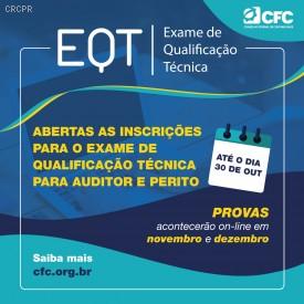 Inscrições para o EQT 2020 estão abertas