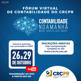 Palestras simultâneas do Fórum Virtual de Contabilidade do CRCPR seguem com aprovação do público