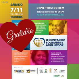 Classe contábil de Curitiba e região mobiliza-se com doações para entidades assistenciais