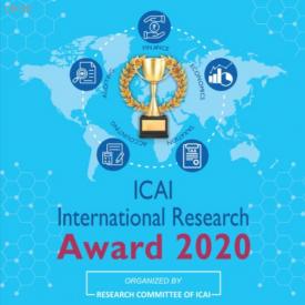Associação Interamericana de Contabilidade (AIC) divulga Prêmio de Pesquisa ICAI 2020