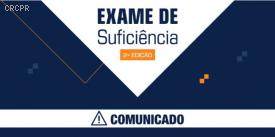 Comunicado sobre o Exame de Suficiência 2020.2