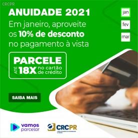 Anuidade 2021: confira os valores, as formas de pagamento e os descontos especiais
